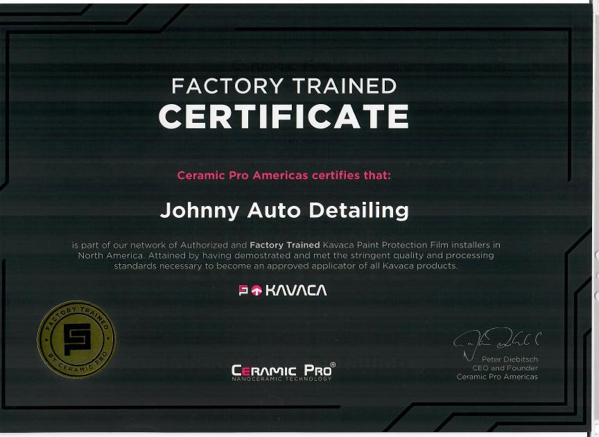 Ceramic PRO Certification